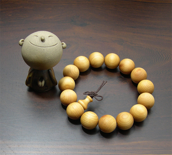 (原藝坊)【Original Arts Square】 Yashi cypress beads (bead diameter of about 10mm)