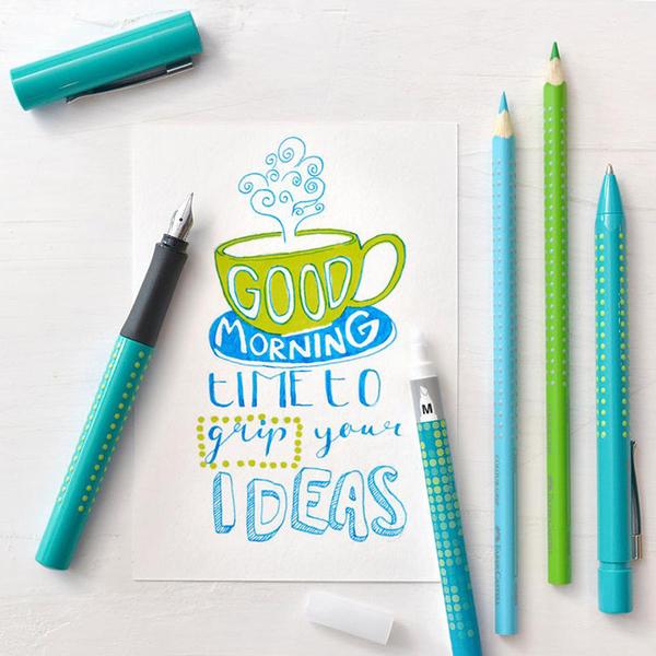 Faber-FABER-CASTELL good idea macaron pen / 140926 / F tip / Turkish green