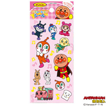 Anpanman pink decorative stickers