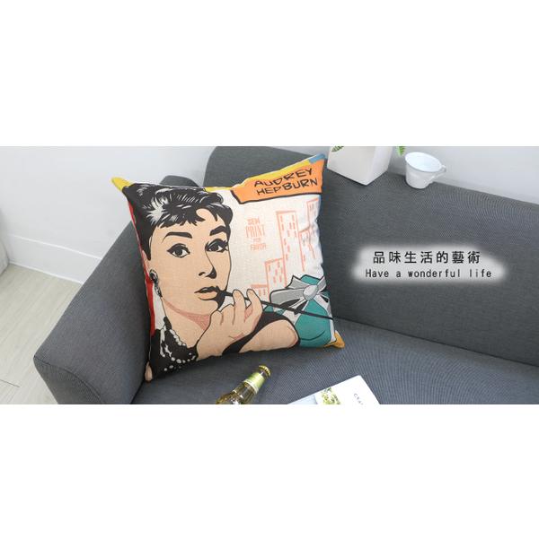 Celebrity headband Cotton comfort square pillow. Pillow (Jimmy Dean)