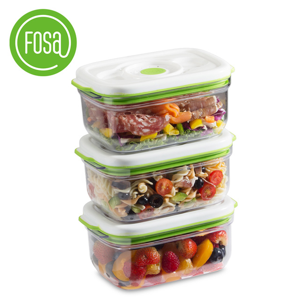 (FOSA)FOSA smart vac crisper / square into 3 / 1450ml (31450)
