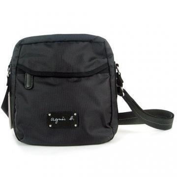 (agnes b)agnes b. messenger bag nylon neutral (black)