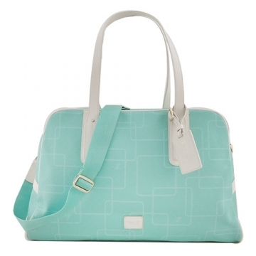 (agnes.b)agnes b. VOYAGE iron geometric travel bag (mint green)