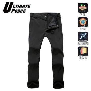 (Ultimate Force)Ultimate Force Men's Softshell Warm Work Pants (Black)