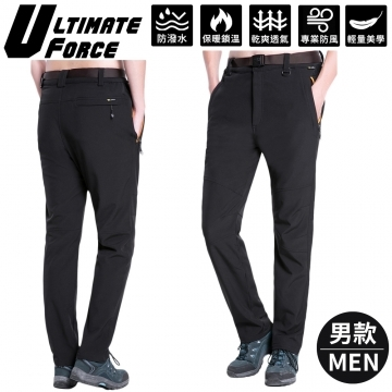 "(Ultimate Force)Ultimate Force ""ultimate power"" men's soft shell warm work pants (black)"