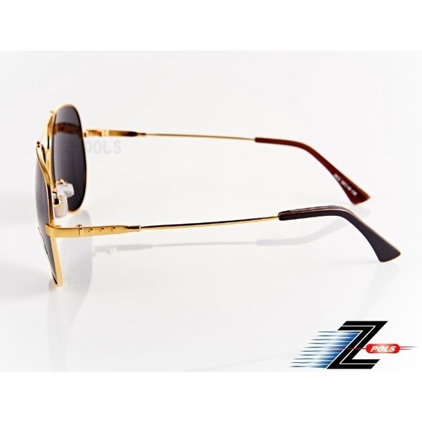 (Z-POLS)[Ding Z-POLS brand-name style] top memory alloy metal ultra-lightweight (golden frame) texture black gray Polarized anti-UV400 polarized sungl