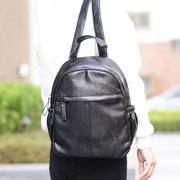 Abigail simple ruffle backpack 6420N (black)