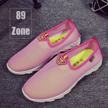 (89 zone)The trend of light - weight net surface quick - drying flat shoes