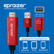 (epraizer)IPV780 iphone Android Phone 3 in 1 HDMI Output Line