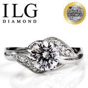 (ILG DIAMOND)[Top] Hearts and Arrows diamond ILG realistic diamond ring -RI-030 models diamond weave happy about 1.5 kt sweet girlfriends lover necess