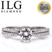 (ILG DIAMOND)[Top US ILG diamond] eight heart eight arrows ring - charm Nordic models RI103 main drill about 75 minutes detailed drill design classic