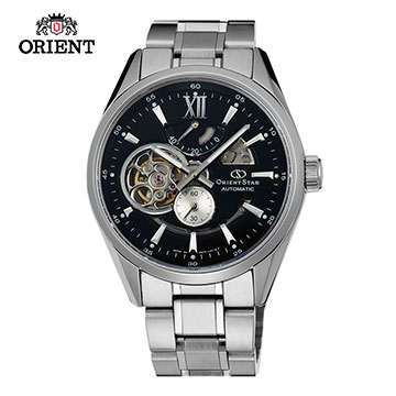 (ORIENT)ORIENT STAR OPEN HEART series of hollow mechanical watch steel band section SDK05002B black - 41.0mm