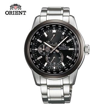 (ORIENT)ORIENT STAR Oriental Star WORLD TIME Series World 24 Time Zone Mechanical Watch Steel Sections SJC00001B Black - 41.5mm