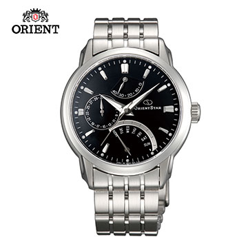 (ORIENT)ORIENT STAR EXTERTAIN STAR RETROGRADE SERIES Classic Week Anti-jump Mechanical Watch Steel Band SDE00002B Black - 39.5 mm