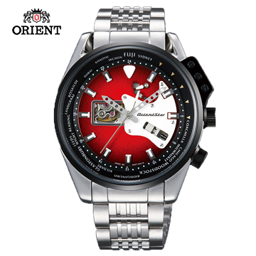 (ORIENT)ORIENT STAR CHRISTMAS STAR RETRO-FUTURE series rock guitar modeling mechanical watch steel band WZ0171DA red - 44.5 mm