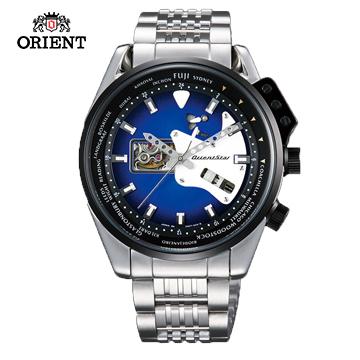 (ORIENT)ORIENT STAR CHRISTMAS STAR RETRO-FUTURE series rock guitar modeling mechanical watch steel band WZ0161DA blue - 44.5 mm