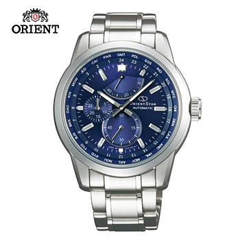 (ORIENT)ORIENT STAR STAR STAR WORLD TIME Series World 24 Time Zone Mechanical Watch Steel SJC00002D Blue - 41.5mm