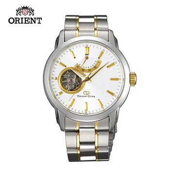 (ORIENT)ORIENT STAR Oriental Star OPEN HEART series of small hollow mechanical watch steel band SDA02001W gold -39.0mm