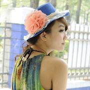 (Aimee Toff)Aimee Toff fine yarn peony bud in spring appearance hats (blue)