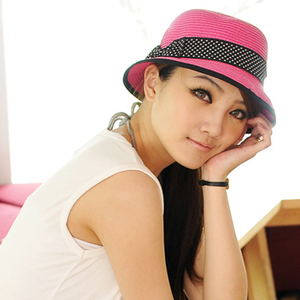 (Aimee Toff)Aimee Toff dual visor Japanese Shuiyu ribbon (peach)