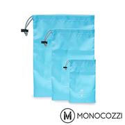 (MONOCOZZI)MONOCOZZI Lush beam port accommodating three groups Storage Pouches Set (Baby Blue)