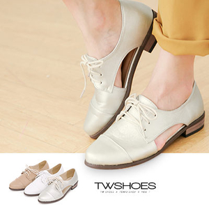 (TW Shoes)Nude muscle x-side hollow design belt with Oxford shoes [K160A2231] ‧3 colors