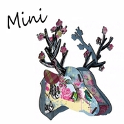 (MIHO)SUSS [MIHO] Italian design and manufacture of high texture home in Germany wooden deer ornaments / decorative wall - small size (mini147)