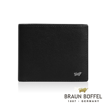 (BRAUN BUFFEL)【BRAUN BUFFEL】 Germany Taurus Luis series 12 card middle transparent window wallet (black)