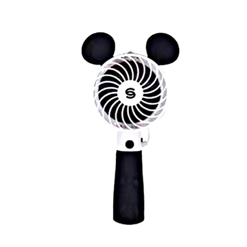 [TAITRA] Cute Style Hand-held Wired Fan Selfie Stick (Smart Black Mouse)