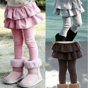 Korean plus velvet warm lotus leaf skirt princess skirts - light gray