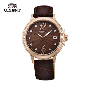 (ORIENT)ORIENT Orient Watch ELEGANT bright star series of mechanical watches brown belt section FAC07001T x Rose Gold - 38mm