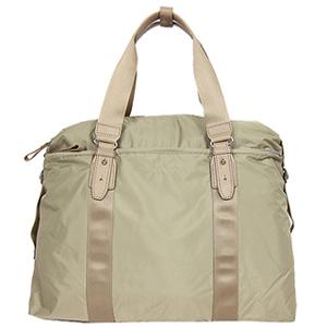 (agnes b)Agnes b. Buckle light nylon travel bag (small / khaki)