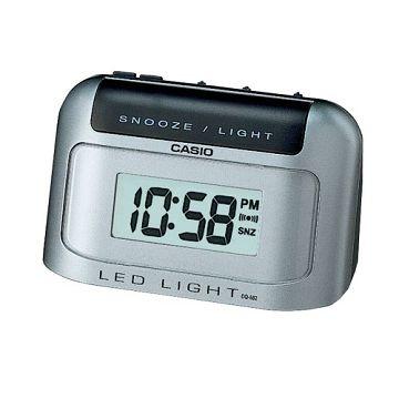 (CASIO)CASIO semi-arc shape digital alarm clock - Gray