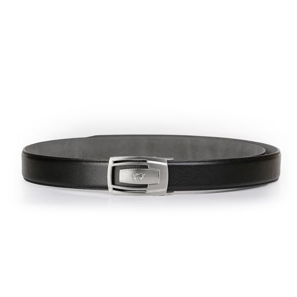 (BRAUN BUFFEL)[BRAUN BUFFEL German Golden Bull] calm and restrained gentleman automatic buckle belt (silver)
