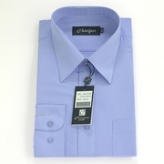 [TAITRA] CHINJUN Wrinkle Resistant Shirt Long-Sleeved、Long-Sleeved Purple Blue 17 Inches