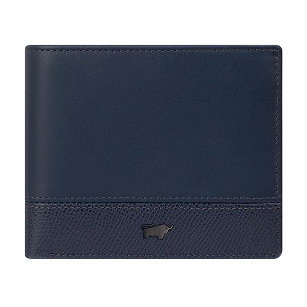 (BRAUN BUFFEL)BRAUN BUFFEL Bonnie Series 5 Card Pane Wallet - Deep Blue BF322-316-OC