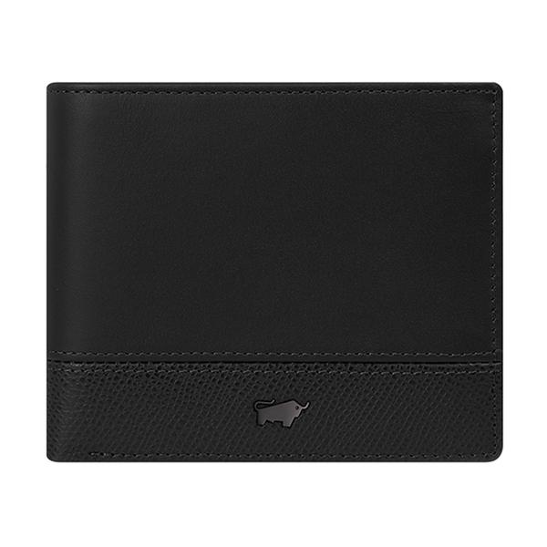 (BRAUN BUFFEL)BRAUN BUFFEL Bonnie Series 8 Card Wallet - Phantom Black BF322-313-BK