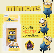 Minion Minions package Parker King Art factory authorized 2A USB charging adapter / travel charger head