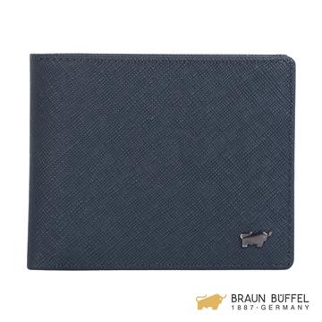 (Braun Buffel)[BRAUN BUFFEL] Lofino III Series 10 Clips - Midnight Blue BF314-314-MAR