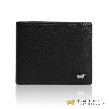 (Braun Buffel)[BRAUN BUFFEL] Louis series 5 card pane wallet - black BF313-316H-BK