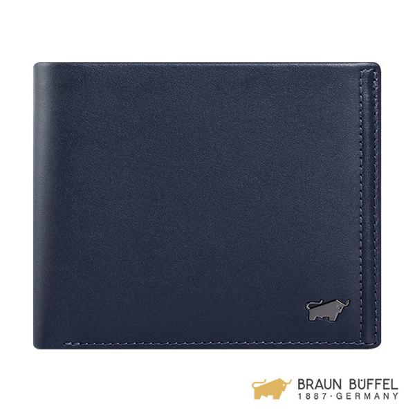 (Braun Buffel)[BRAUN BUFFEL] Android Series 4 Card Coin Bag Wallet - Navy Blue BF312-315-MAR
