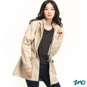 (ZMO)[Manufacturing] female ZMO weatherproof windbreaker jacket JG360 / brown color / MIT Taiwan