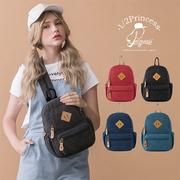 (1 / 2princess) กระเป๋าเป้สะพายหลัง/กระเป๋าคาดอก ผ้าแคนวาส น้ำหนักเบา - เลือกได้ 4 สี [A2206]