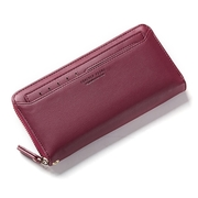 Abigail-long clip clutch bag mobile phone package 8906 (wine red)