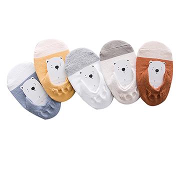 ฤดูใบไม้ผลิและฤดูร้อนสดถุงเท้าระบายอากาศถุงเท้าถุงเท้าถุงเท้าถุงเท้า (ห้าใน)