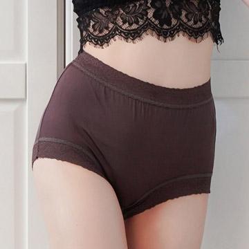 [Chlansilk 阙绢] ด้านบนเนียน 40 ขากางเกงชั้นในผ้าไหม 100% -8797 (สีน้ำตาล)