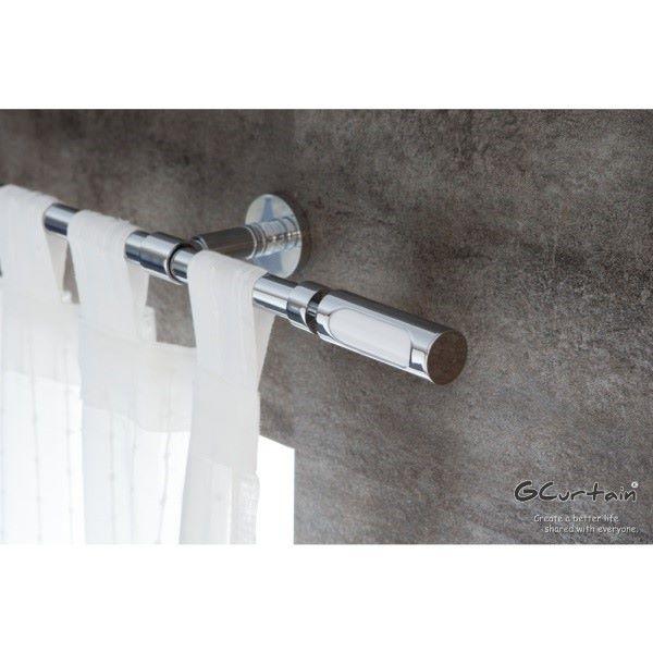 [GCurtain] ราวแขวนผ้าสไตล์โลหะนอร์ดิก GCMAC8016 สีขาวหรูหรา (310 ซม. - 430 ซม.)