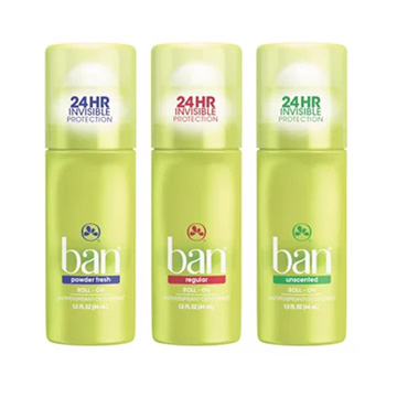 (BAN盼)US BAN hope fresh deodorant (ball type) [unscented / original floral / powder pink] 44ml