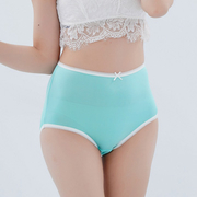 (Chlansilk)[Chlansilk ? ? 】 high waist pink comfortable and breathable 100% silk underwear -8903 (green)