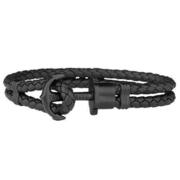 (PAUL HEWITT)PAUL HEWITT Germany produced PHREP black leather bracelet bracelet black anchor